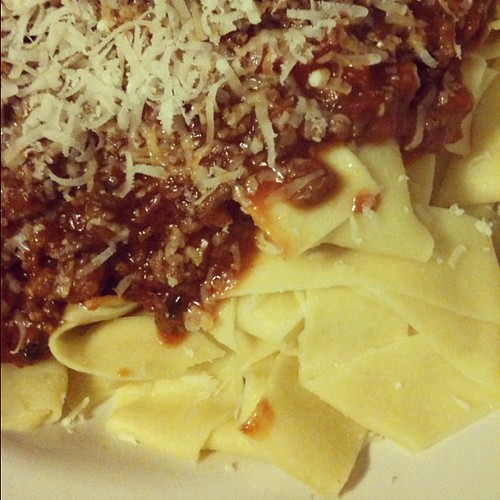 Papardelle Bolognese #12on12th #12von12