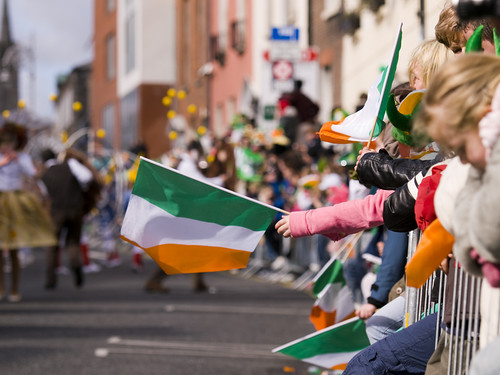 St Patrick's Day, Dublin (by: Sebastian Dooris, creative commons license)