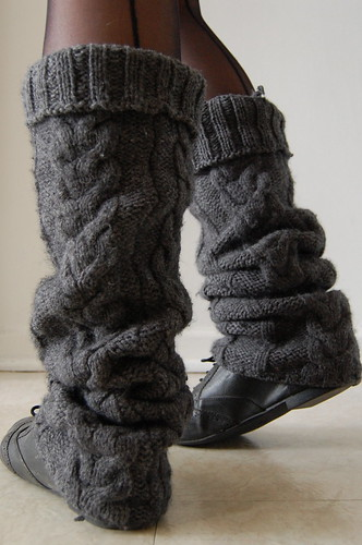 upcycled legwarmers