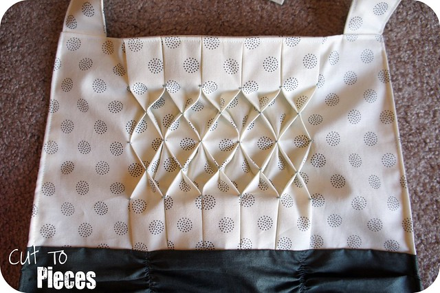 Addison Hostess Apron - honeycomb smocking details