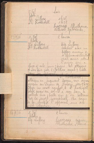 Journal des marches et opérations pendant la campagne du l4/8/16 au 9/9/17