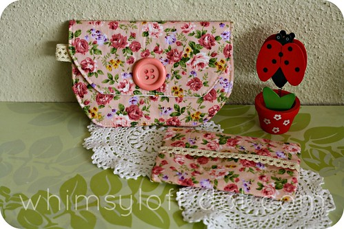 floral pouches PINK