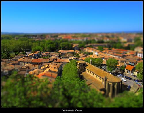 roof castle church landscape cité iglesia francia carcassonne castillo tejados tiltshift 2011