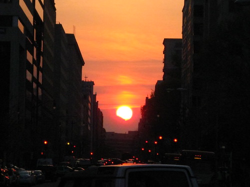 The Sun Sets over I Street