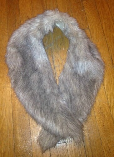 Faux fur stole from Goodwill