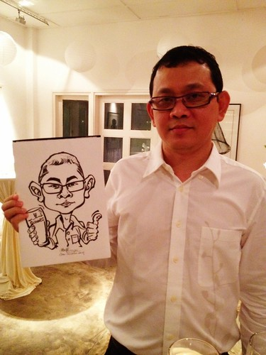 Caricature live sketching for Diageo Singapore Pte Ltd - 4