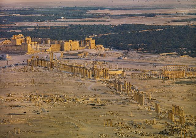 Panorama of The Ancient Roman city of Palmyra, Syria