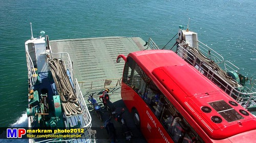 Royal Seal 2 roro ramp and Rural Tour Bus