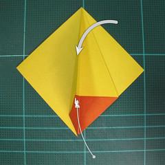 วิธีพับกระดาษเป็นรูปนกยูง (Origami Peacock - ピーコックの折り紙) 009