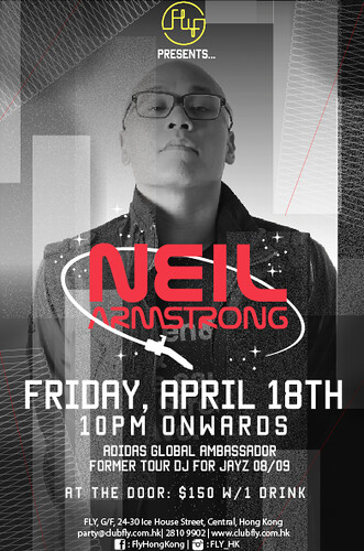 4/18 - Fri - DJ NA at FLY Hong Kong