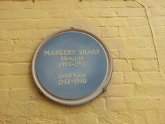 Photo of Margery Sharp blue plaque