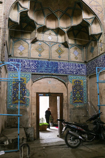 Entrance of a mosque, Isfahan イスファハン、モスクの入口