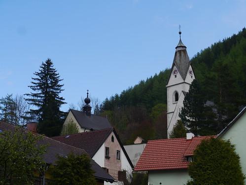 alps church facade austria österreich kirche churchtower roofs alpen steiermark autriche fassade styria kirchturm dächer hochschwab grünersee tragös oberort wanderung20160507