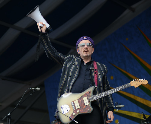 Elvis Costello at Jazz Fest 2016.  Photo by Leon Morris.