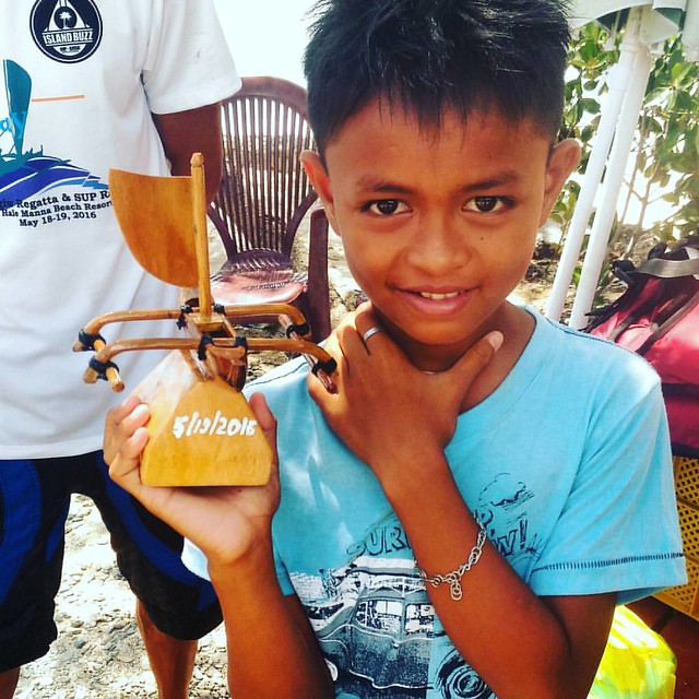 Proud Son-this young man's father one the race. There's going to a fiesta  in their casa tonight. #regatta #paddleforacause #bigiwbugsay #Cebu #wanderlust #travel #locals #morefuninthephilippines