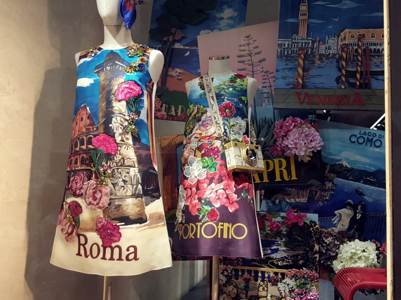 Dolce and Gabbana windows Rome