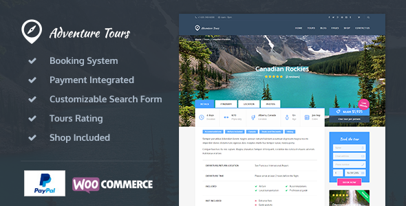 Adventure Tours v2.3.6 - WordPress Tour/Travel Theme
