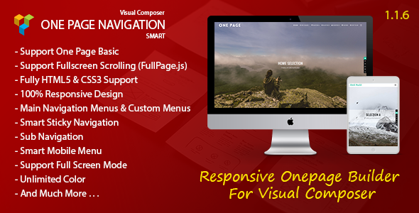 Smart One Page Navigation v1.1.6 - Addon For Visual Composer