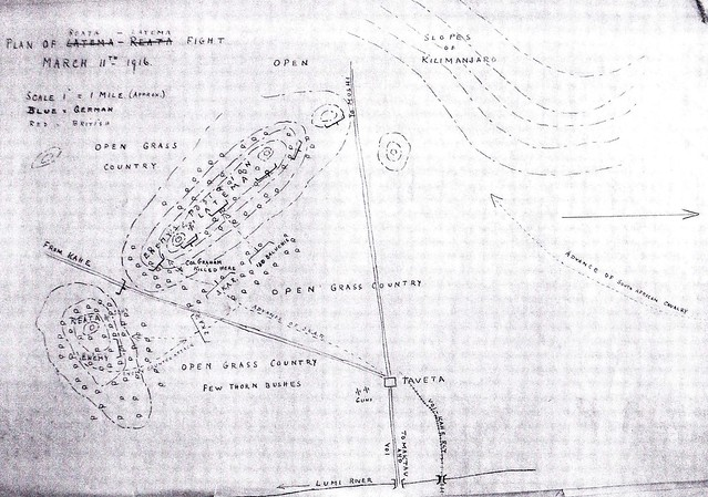 Sketch showing the first British attack  on Latema-Reata Nek