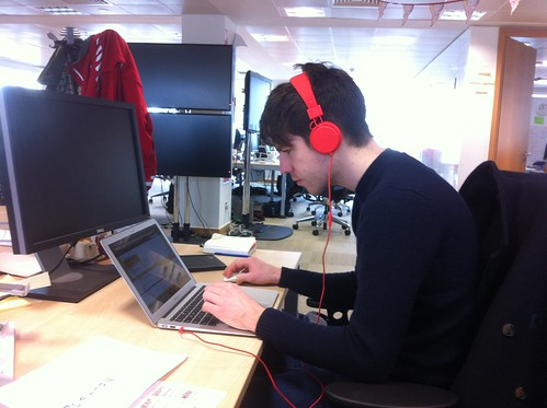 Even his headphones are cool