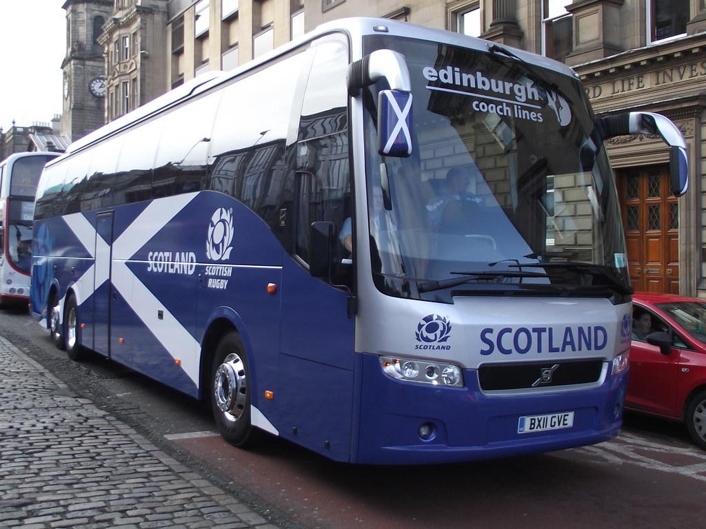 BX11GVE Volvo B13R 9700 Edinburgh Coach Lines