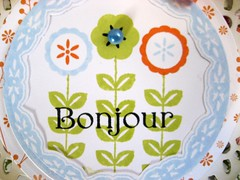 Bonjour close-up