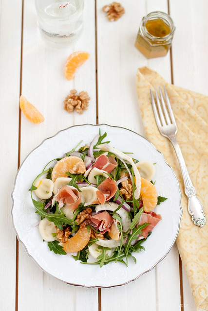 Orecchiette Salad With Prosciutto, Fennel and Tangerines