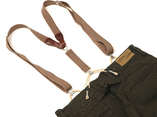 RRL / Leather Suspender