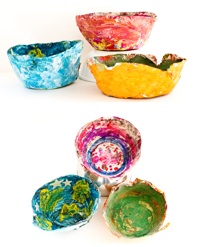 No Monsters In My Bed Things To Make Paper Mache Bowls