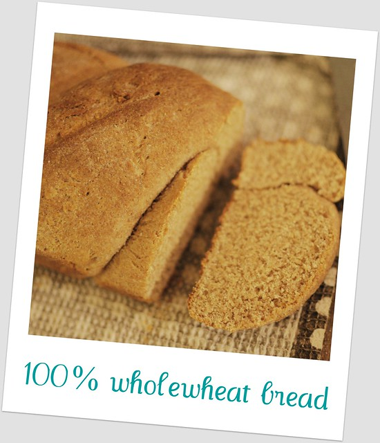 100% wholewheat bread