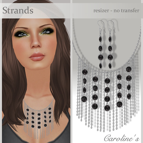 Caroline's Jewelry Strands in Black&Silver