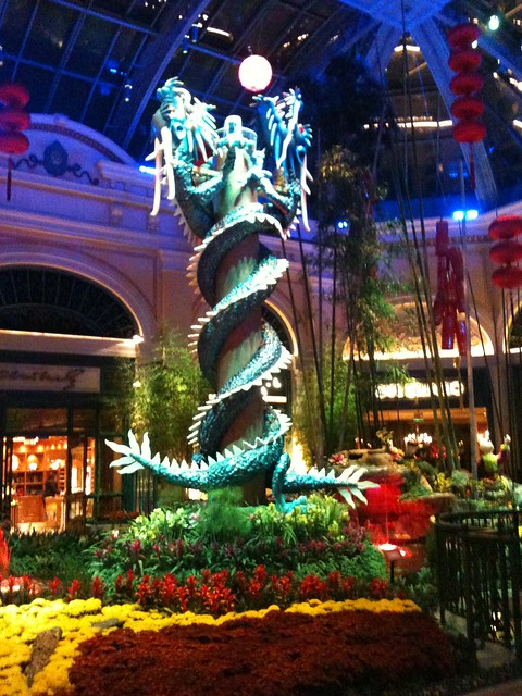 Stunning flower arrangements in the lobby of bellagio