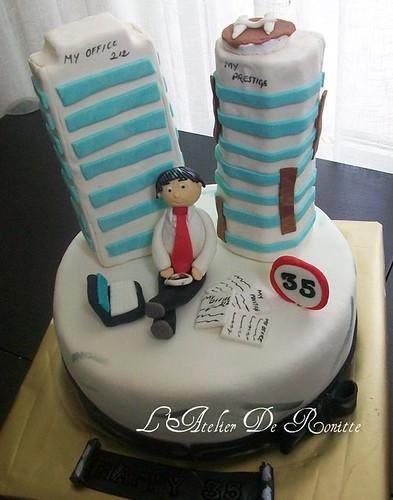 Emlakçılar kralı doğumgünü pastası by l'atelier de ronitte