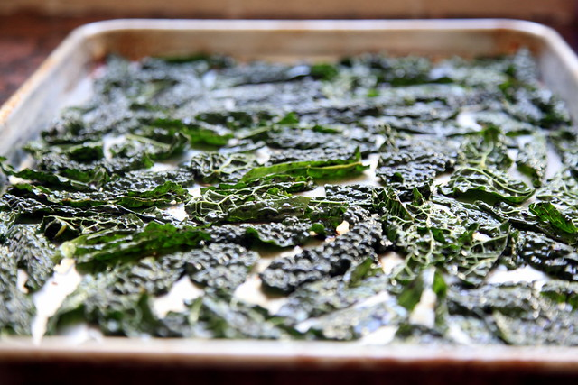 Kale Chips Before Roasting