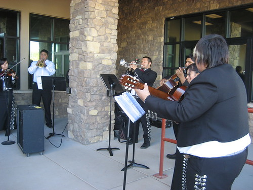 Mariachis provided a festive feel to the ribbon cutting event.