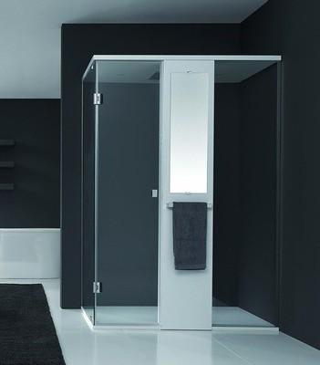 Mamparas de ducha solucion ideal para ba os modernos - Pegatinas para mamparas de bano ...