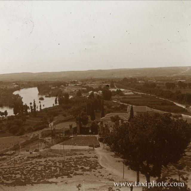 Vista de la Basílica de Santa Leocadia y del cristo de la Vega en los años 20. Fotografía de José Villar Martelo