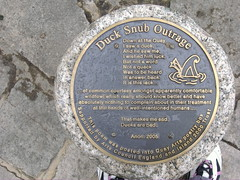 Photo of Rude Duck bronze plaque