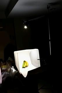 จัดไฟถ่ายกล้วย lighting banana