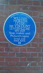 Photo of William Hesketh Lever blue plaque