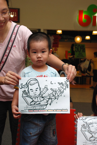 "caricature live sketching for ""Make Your Christmas Shine at Liang Court"" - 7"