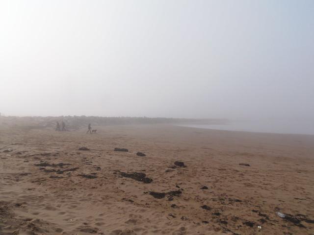 Mist on the beach @ ATP Minehead 3/11/12