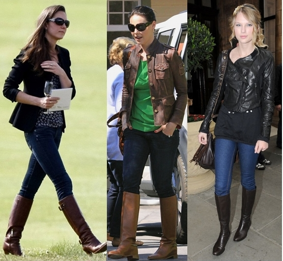 How Celebrities Wear Riding Boots in Spring