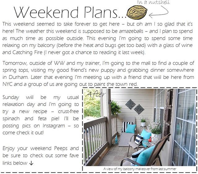 weekend plans 3.16.12