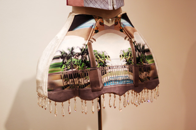 Universal Greek Fashion Designers Hellenic Centre london Mary Katrantzou lampshade skirt