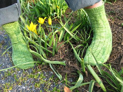 Spring Green Socks