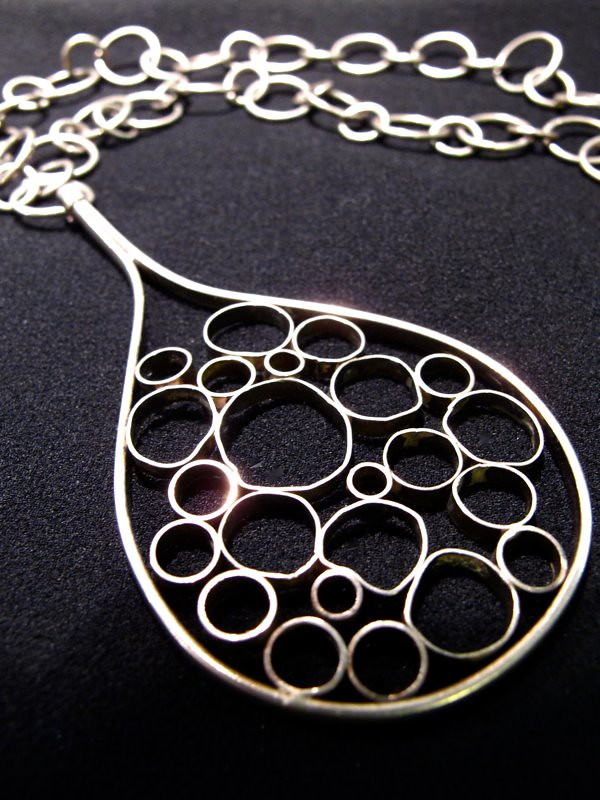 Seeing circles in this quirky necklace!