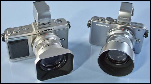 Olympus E-PL3 E-P2 12mm f/2 45mm f/1.8
