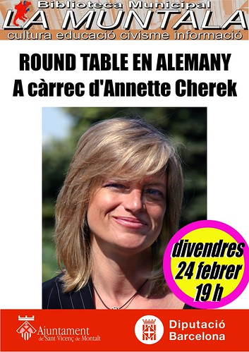 Round table en alemany @ Centre Cívic El Gorg 24 febrer 19 h by bibliotecalamuntala
