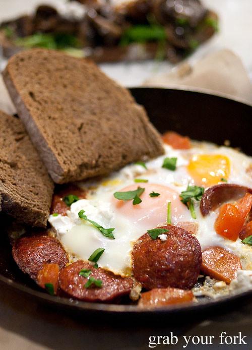 baked eggs sujuk circa espresso cafe parramatta